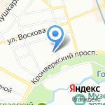Кнопка на карте Санкт-Петербурга