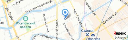 Апшерон на карте Санкт-Петербурга