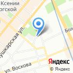 Линобалт на карте Санкт-Петербурга