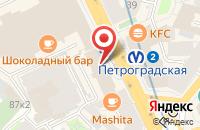 Схема проезда до компании Континент-Принт в Санкт-Петербурге