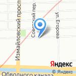 Растущая Луна на карте Санкт-Петербурга