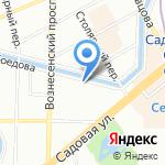 Мастерская стеклянных картин Анны Дорониной на карте Санкт-Петербурга
