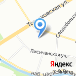 Актон на карте Санкт-Петербурга