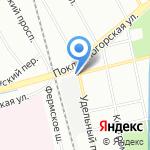 Русь-Лес на карте Санкт-Петербурга