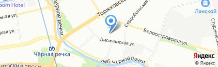 Фабрика Карт на карте Санкт-Петербурга