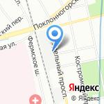 Удельная №25 на карте Санкт-Петербурга