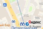 Схема проезда до компании KFC в Санкт-Петербурге