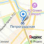 Магазин верхней женской одежды на карте Санкт-Петербурга