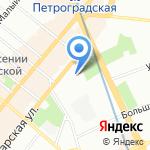 БОРС на карте Санкт-Петербурга