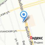 Лучики на карте Санкт-Петербурга