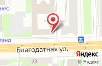 Схема проезда до компании Каланит в Санкт-Петербурге