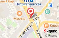 Схема проезда до компании Интер Холдинг в Санкт-Петербурге