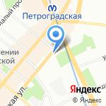 Антикварный салон на карте Санкт-Петербурга