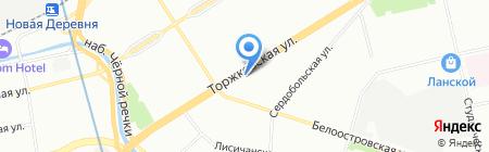 Магнит на карте Санкт-Петербурга