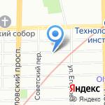 Карапузики на карте Санкт-Петербурга
