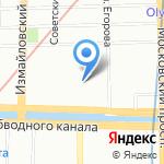 На Обводном на карте Санкт-Петербурга