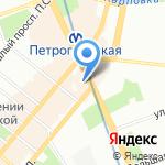 Сатурн на карте Санкт-Петербурга