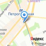 Упаковка на карте Санкт-Петербурга