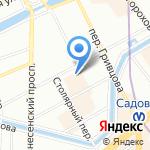 Белый клык на карте Санкт-Петербурга