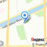 Санкт-Петербургский Молодежный театр на Фонтанке на карте Санкт-Петербурга