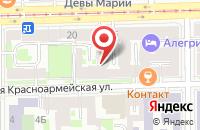 Схема проезда до компании Инморкомплект в Санкт-Петербурге