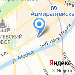 Casa Leto на карте Санкт-Петербурга