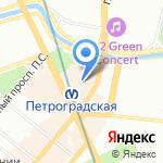 Аватерра на карте Санкт-Петербурга