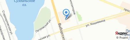 Лэнд на карте Санкт-Петербурга