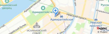 Студия Н+Н на карте Санкт-Петербурга