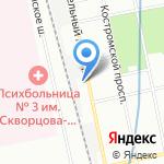 Городская поликлиника №104 на карте Санкт-Петербурга