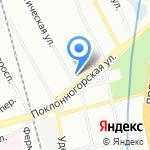 Белый Медведь на карте Санкт-Петербурга