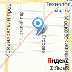Прибор на карте Санкт-Петербурга
