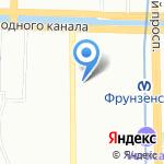 Дом на Фрунзенской на карте Санкт-Петербурга