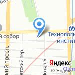 Антураж на карте Санкт-Петербурга