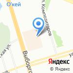 Артбука на карте Санкт-Петербурга