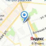 Benua club bar на карте Санкт-Петербурга