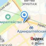Невская классика на карте Санкт-Петербурга