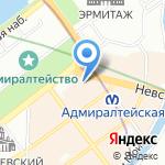 Бей посуду на карте Санкт-Петербурга