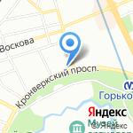 Магазин пива на карте Санкт-Петербурга