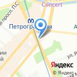 Каменноостровский на карте Санкт-Петербурга