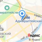 Поликлиника №1 на карте Санкт-Петербурга