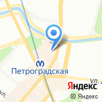 Поляндрия на карте Санкт-Петербурга