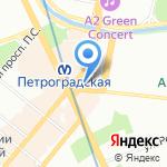 Толстой на карте Санкт-Петербурга
