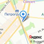 Хлеб на карте Санкт-Петербурга