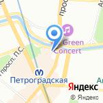 Провинция на карте Санкт-Петербурга