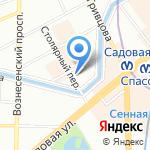 Столярный 18 на карте Санкт-Петербурга