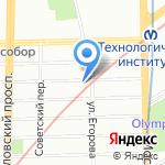 Танго на карте Санкт-Петербурга