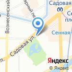 Центральный музей железнодорожного транспорта РФ на карте Санкт-Петербурга