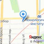 Академия им. Егорова на карте Санкт-Петербурга