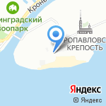 Тюрьма трубецкого бастиона на карте Санкт-Петербурга